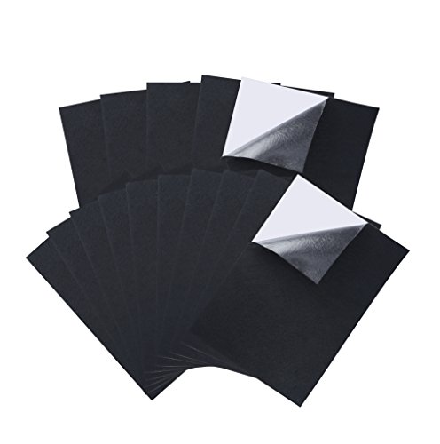 (Caydo 15 Pieces Black Adhesive Back Felt Sheets Fabric Sticky Back Sheets, 4 by 6 Inch, Self-Adhesive, Durable and Water Resistant, Multi-Purpose for Art and Craft Making)