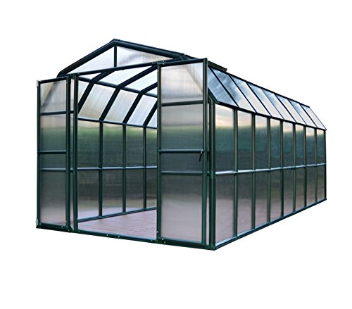 Glass Greenhouse Kit - Rion Grand Gardener 2 Clear Greenhouse, 8' x 16'