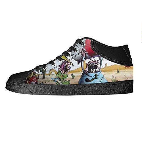 Custom Graffiti Mens Canvas shoes Schuhe Lace-up High-top Sneakers Segeltuchschuhe Leinwand-Schuh-Turnschuhe A