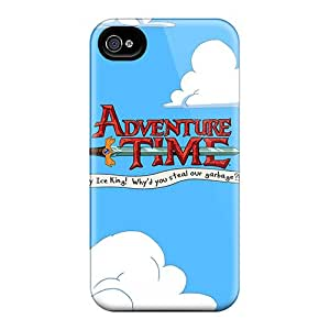 Hot Adventure Time Logo First Grade Tpu Phone Case For Iphone 4/4s Case Cover