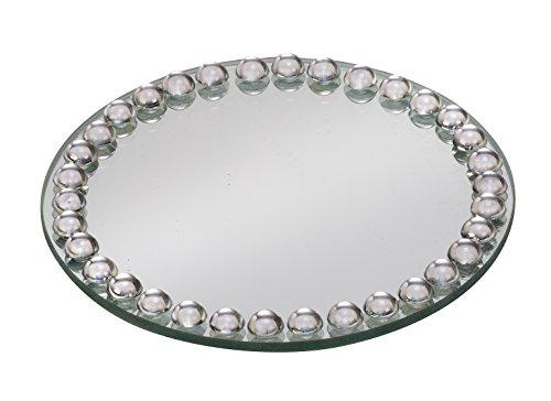 Biedermann & Sons Beaded Mirror Plates (Box of 4), Medium