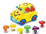 Early Education 1 Year Olds Baby Toy Fruit Car with Music/Light/Block for Children & Kids Boys and Girls