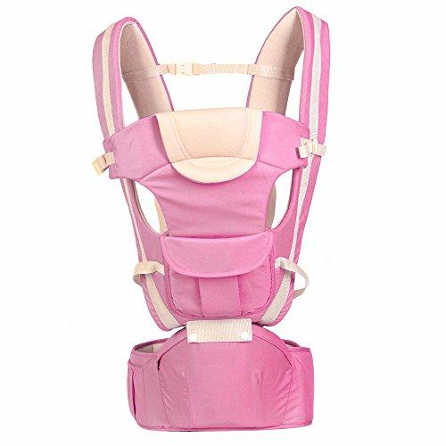 Baby Carrier Multifunctional Backpack Sling (Pink) - 9