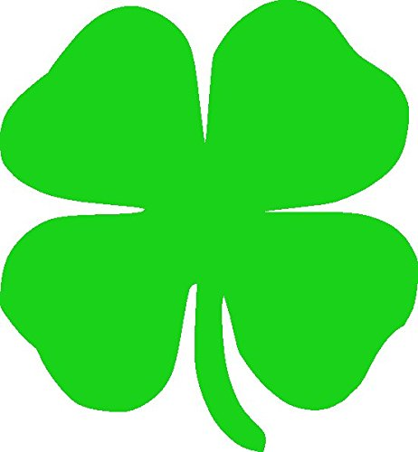 Four Leaf Clover, H 5 By L 4.5 Inches, Green, Other Colors - H 4 Clover