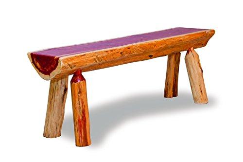 - Furniture Barn USA Rustic Red Cedar Log Half Log Bench (5 FT)
