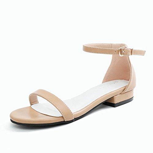YMFIE Clásico de Verano Moda Retro de Fondo Plano con Toe Toe Sandalias Zapatillas de Playa Antideslizante. b