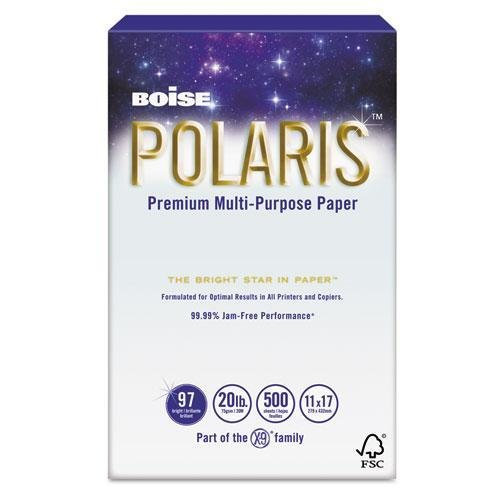 Boise POL1117 POLARIS Copy Paper, 11 x 17, 20lb White, 2500 Sheets/Carton by Boise