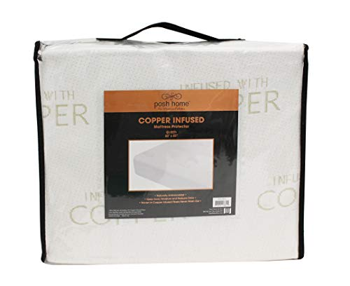 POSH HOME Copper Infused Mattress Protector Twin Size