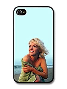 Marilyn Monroe Green Towel Beach Actress case for iPhone 4/4s 4S