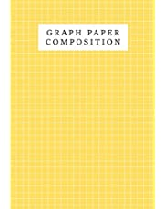 Graph Paper Composition Notebook Mustard Color Background Cover: Grid Paper Journal, Quad Ruled, 110 Pages (Large, 8.5 x 11 inch, 21.59 x 27.94 cm, A4 size)