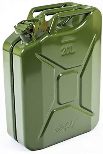 Oxid7® benzinejerrycan brandstofjerrycan metaal 20 liter – met UN-keurmerk – TÜV Rheinland gecertificeerd…
