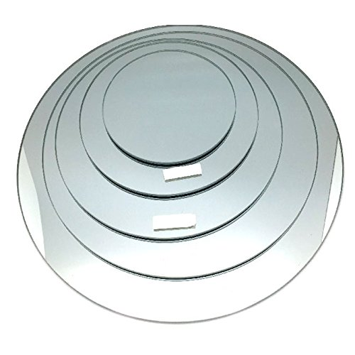Round Mirror Base Centerpiece, 6-pack, CASE BULK (18'')