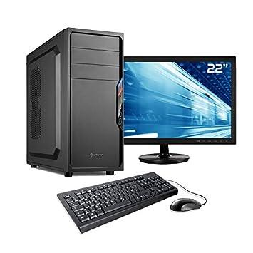 Sedatech Pack Pc De Bureau Intel I3 8100 4x 3 6ghz 8 Go Ram Ddr4 240 Go Ssd 1 To Hdd Usb 3 0 Wifi Unite Centrale Moniteur Clavier Souris