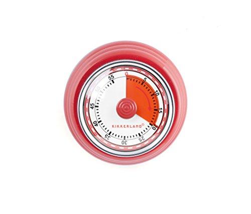 Kikkerland KT051-R Magnetic Kitchen Timer, Red