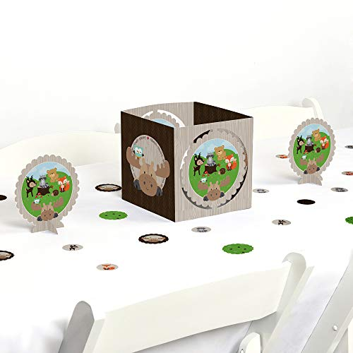 Big Dot of Happiness Woodland Creatures - Baby Shower or Birthday Party Centerpiece & Table Decoration Kit (Table Woodland Game)