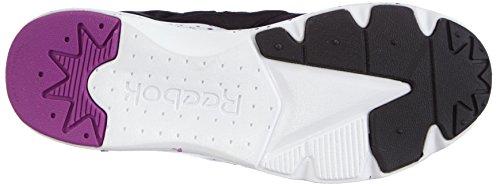 Femme Sneaker Furylite black white Reebok Violet aubergine Chaussons gx8pnxHwt