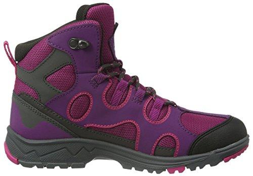 Jack Wolfskin Crosswind Texapore Mid K, Zapatos de High Rise Senderismo Unisex Niños Morado (dark magenta 2071)