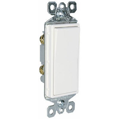 Pass & Seymour TM870WCP6 White Decorator Single Pole Switch 15amp - Pack Of 10