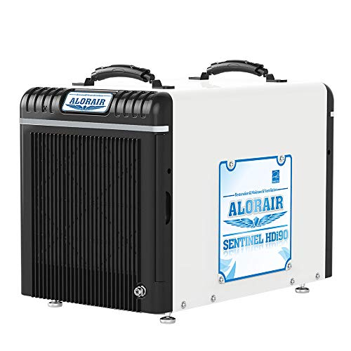 AlorAir Basement/Crawlspace Dehumidifiers 198PPD (Saturation), 90 Pints (AHAM), 5 Years Warranty, Condensate Pump, HGV Defrosting, Energy Star Listed, Epoxy Coating, Remote (Santa Fe Dehumidifier)