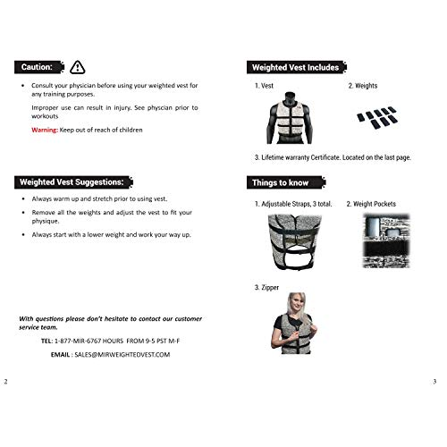 Mir Super Slim AIR Flow Adjustable Weighted Vest Machine Washable. for Men & Women (Black - 16LBS) by Mir (Image #3)