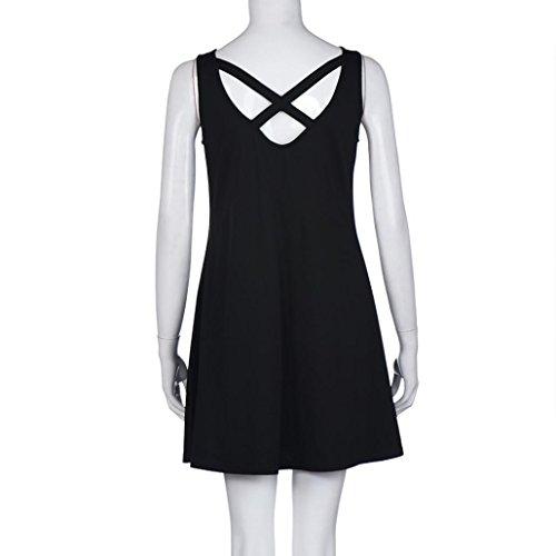 mujer casuales playa Falda vestidos grandes tallas Manga vestidos Vestido Mujer Negro vestido Para Sin 1xRvPv
