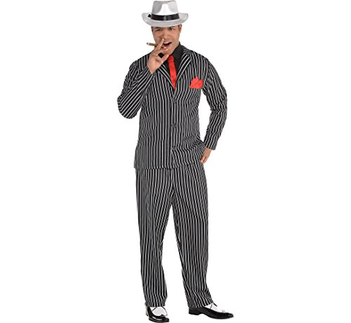 AMSCAN Mob Boss Halloween Costume for Men, Large/Extra Large, with Included Accessories