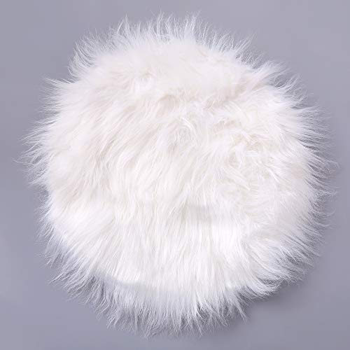 Rambling Soft Round Artificial Sheepskin Rug Chair Cover Artificial Wool Warm Hairy Carpet Seat for Bedroom,Livingroom,Indoor,Diameter:11.7''/15.6''/23.6'' by Rambling (Image #4)