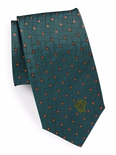 Versace Men's Patterned Medusa Silk Tie, OS (Verde) by Versace