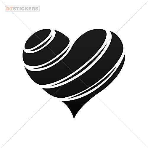 Decoration Vinyl Sticker Vinyl Heart Design Doors Decoration Motorbike (10 X 8,82 In. ) Vinyl color Black
