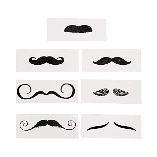 Fun Express Life-Size Mustache Tattoo Assortment 12ct]()