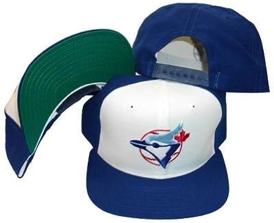 Toronto Blue Jays White/Blue Two Tone Pro Model Plastic Snapback Adjustable Snap Back Hat / Cap