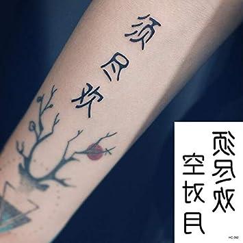 HXMAN 7 Unids Pequeños Tatuaje Temporal Pegatina Negro Blanco ...