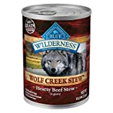 Blue Buffalo Wilderness Wolf Creek Stews Adult Canned Dog Food 12.5 oz. Beef Case of 12