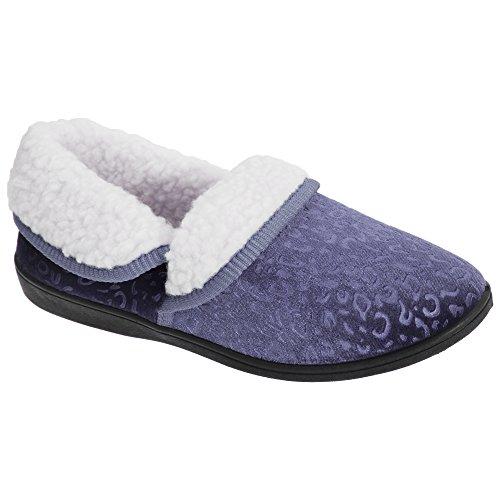 Universal Gemustert Innenfutter Fleece Damen Violett Hausschuhe Textiles mit YAPYB