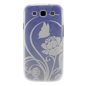 CECT STOCK Mariposa con flores Patrón caso de la cubierta protectora dura de plástico para el Samsung Galaxy S3 I9300