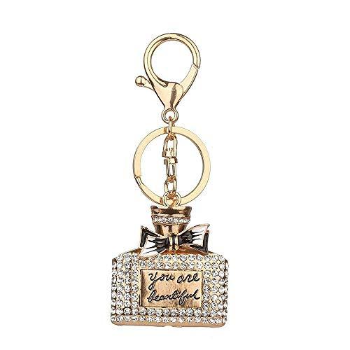 Corvette Gold Charm - Handbag Keychains Crystal Rhinestone Charm Keyring Bag Purse Pendant Key Chain (Mode - Dsign15-01)