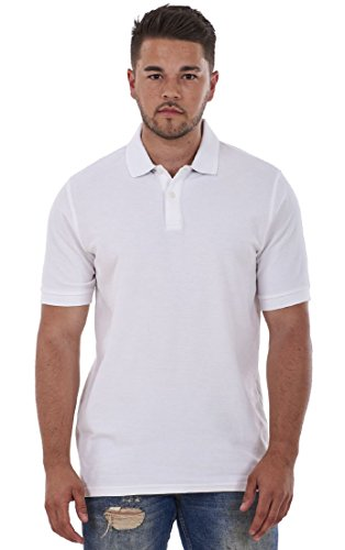 Men's Pure Cotton Plain Top Short Sleeve Polo Tee T-Shirt