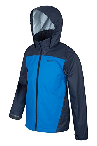 for Travelling Summer Loop Adjustable Ripstop Coat Childrens Warehouse Cuffs Jacket Hood Kids Hook Blue for Resistant Jacket Camping Water Tidal amp; Coat Mountain amp; Trench zBq1q
