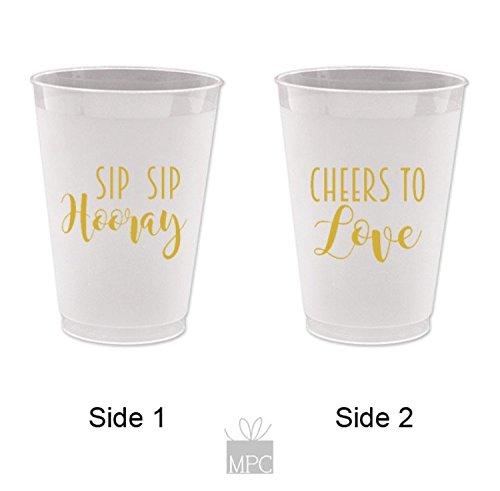 Everyday Frost Flex Plastic Cups - Sip Sip Hooray, Cheers to Love
