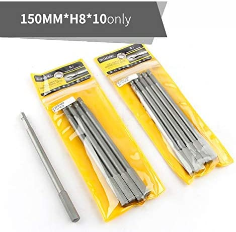 XHUENG Useful 150mm Length Screwdriver Drill Bit Sets S2 Steel Screw Driver Bits Hex Magnetic 1/4