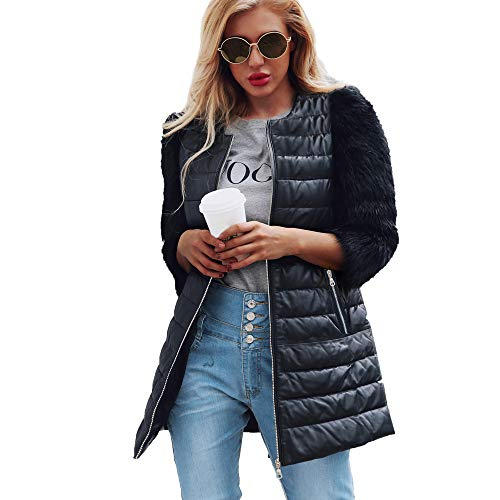 Amazon.com: Sunyastor Clearance Womens Coat,Popular Women Warm Artificial Wool Zipper Coat Imitation Leather Jacket Parka Outerwear: Clothing
