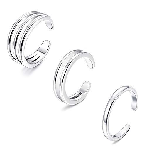Besteel 3Pcs Womens Toe Rings for Girls Open Toe Ring Gifts Jewelry Set