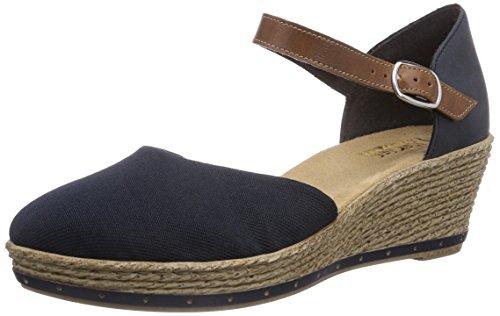 Rieker 60451 - Sandalias de vestir de material sintético para mujer azul - Blau (pazifik/amaretto/denim / 14)