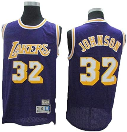 Camiseta NBA Lakers 32 Magician Johnson Vintage All-Star, Tela ...