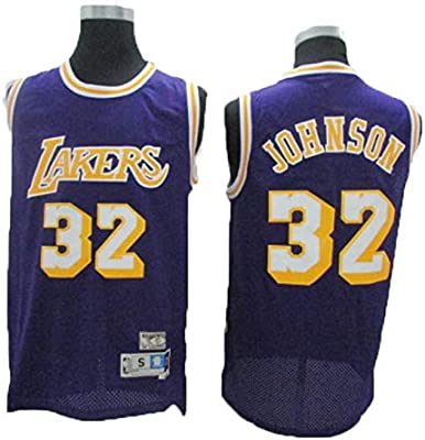 Camiseta NBA Lakers 32 Magician Johnson Vintage All-Star, Tela Fresca Y Transpirable, Camiseta De Hombre Camiseta De Baloncesto para ...