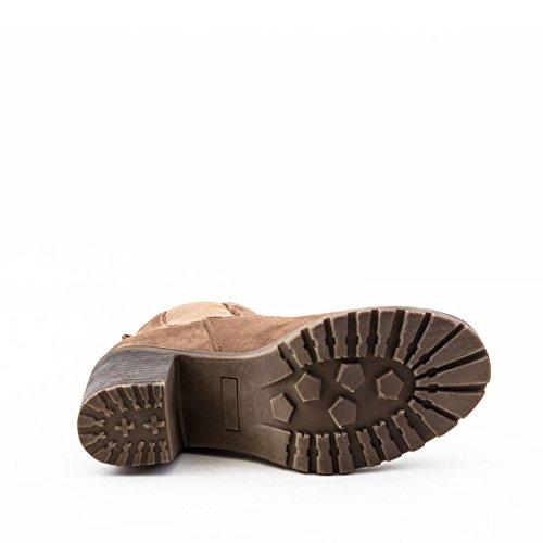 Stylische Damen Ankle Chelsea Boots Stiefeletten mit Blockabsatz in hochwertiger Lederoptik Schwarz