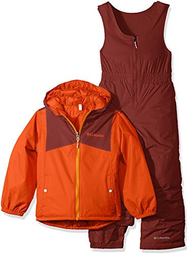 Columbia Toddler Girls' Double Flake Set, State Orange, Red Rocks, 4T by Columbia