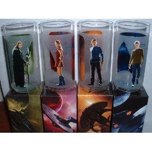 Star Trek Figure Glasses Featuring Kirk, Spock, Uhura and Nero