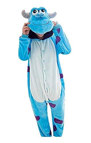 Aokaixin Unisex Adult Spring Onesie Kigurumi Pajamas Cosplay Costume Animal Romper (L(Height:169-178cm)) - Womens Sully Costumes
