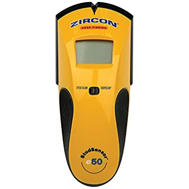 Zircon StudSensor e50-FFP Edge Finding Stud Finder with Live AC WireWarning Detection